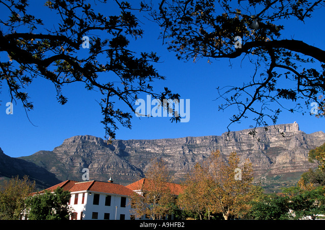South Africa Cape Town scenic with Table Mountain in the background - Stock Image