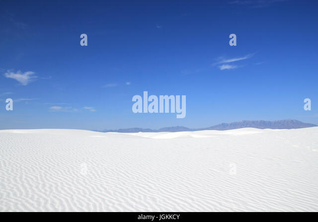 White Sands National Monument. New Mexico, United States - Stock Image