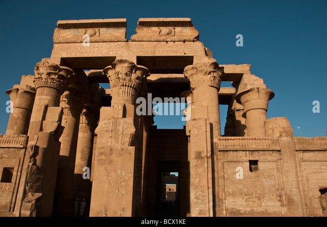 Egypt Kom Ombo temple entrance - Stock Image