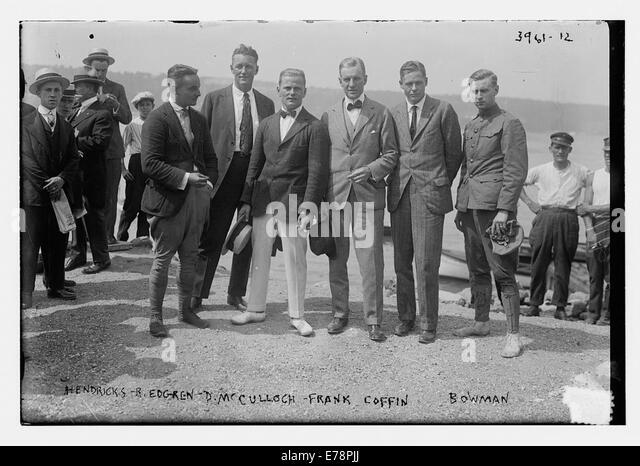Hendricks, B Edgren, D McCulloch, Frank Coffin, Bowman - Stock Image