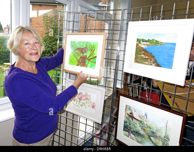 WAG Warrington Art Group exhibition at Grappenhall Community Library 2013 - Stock Image