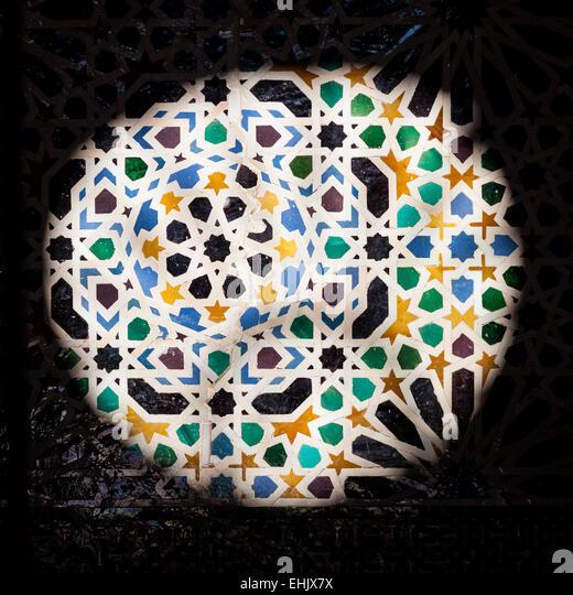 Mosaic alhambra granada andalucia spain stock photos for Alhambra decoration