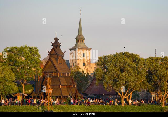 Epcot, Norway Pavilion, Disney World, Orlando Florida - Stock Image