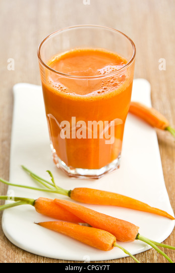 Carrot smoothie - Stock Image
