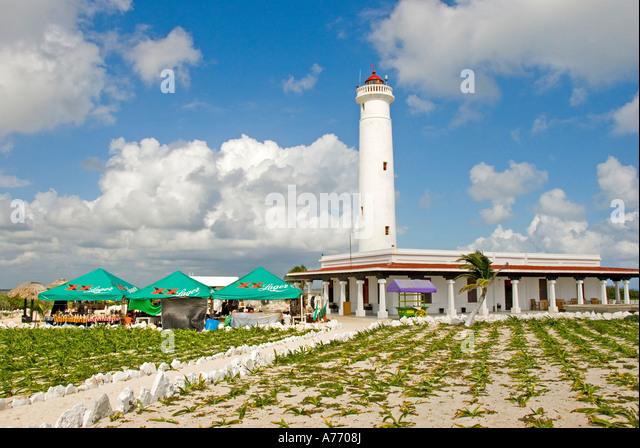 Mexico Cozumel Punta Sur Celarain Lighthouse - Stock Image