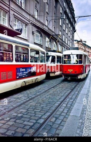old tram prague street - photo #19