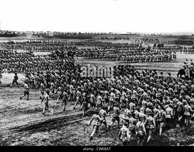 American soldiers training in the us ca 1917 stock image