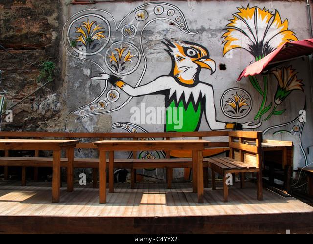 Turkey Istanbul Sultanahmet old town Graffiti - Stock-Bilder