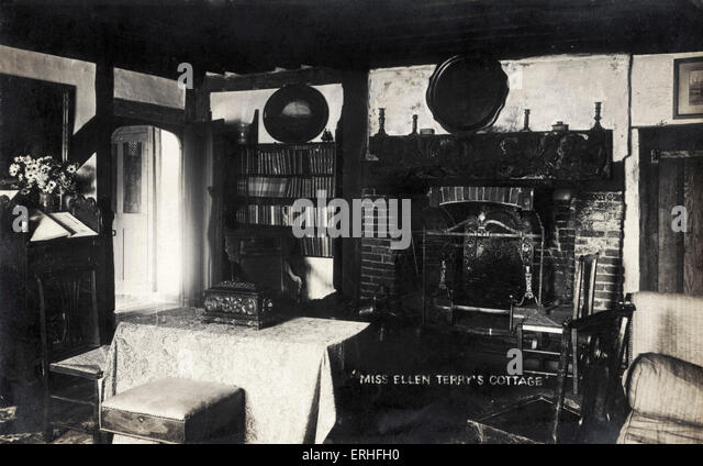 'Miss Ellen Terry's Cottage' Photograph of the interior of the English actress' cottage 27 February - Stock-Bilder