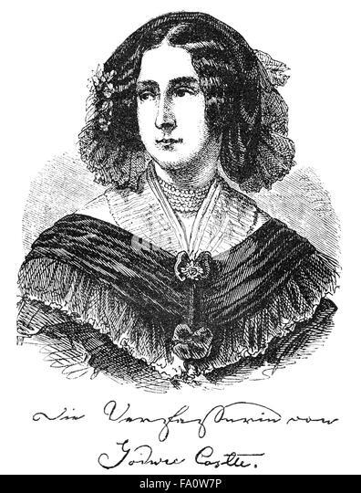 Henriette von Paalzow, née Wach, 1788-1847, a German historical novelist, - Stock-Bilder
