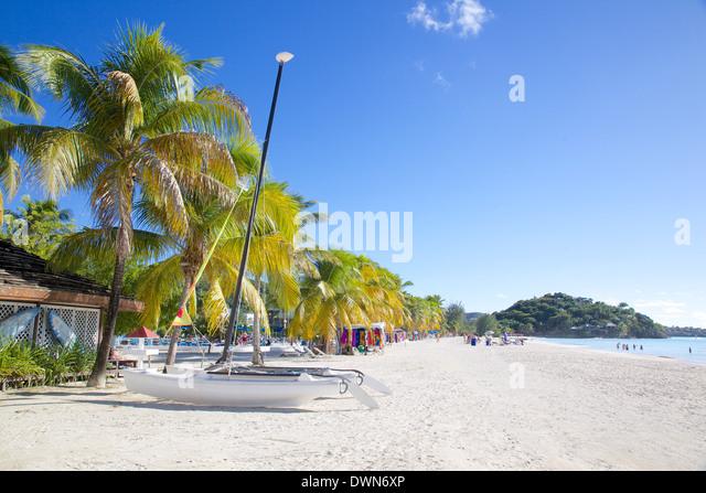 Beach, Jolly Harbour, St. Mary, Antigua, Leeward Islands, West Indies, Caribbean, Central America - Stock Image