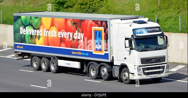 Aldi Delivery Truck Stock Photos & Aldi Delivery Truck ...