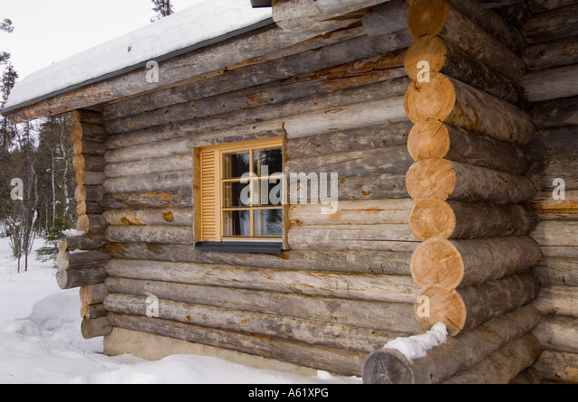 Lapland Log Cabin Stock Photos Lapland Log Cabin Stock