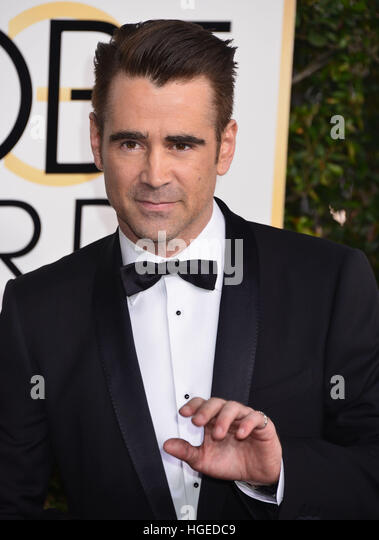 Los Angeles, California, USA. 08th Jan, 2017. Colin Farrell 099 arriving at the 74th Annual Golden Globe Awards - Stock-Bilder