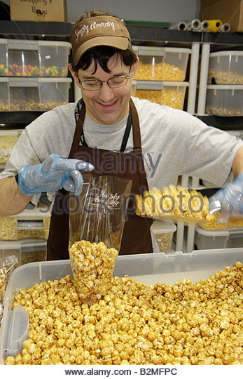 Indiana Valparaiso Simply Amazing Market Opportunity Enterprises challenged employees make products mental physical - Stock Image
