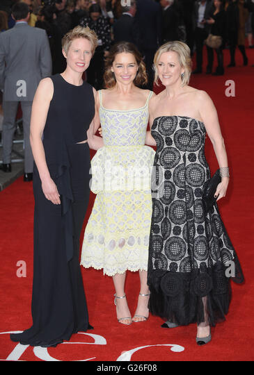 London, UK. 25th May, 2016. Thea Sharrock, Emilia Clarke and Jojo Moyes attend the European Premiere of 'Me - Stock Image