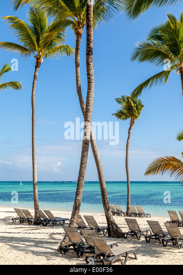 Luxury resort beach in Punta Cana, Dominican Republic - Stock Image