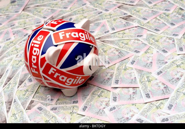 UK piggy bank - Stock Image