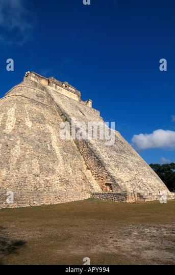 UXMAL Magicians Pyramid - Stock Image