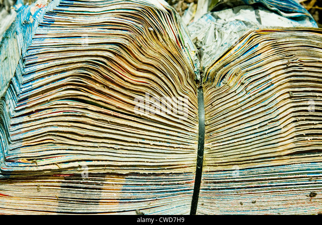 newspaper,stack of newspaper,recycled paper - Stock Image