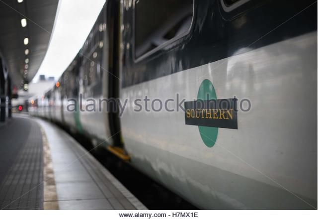 File photo dated 20/09/16 of a Southern train as the biggest train drivers' union Aslef is pressing ahead with - Stock Image