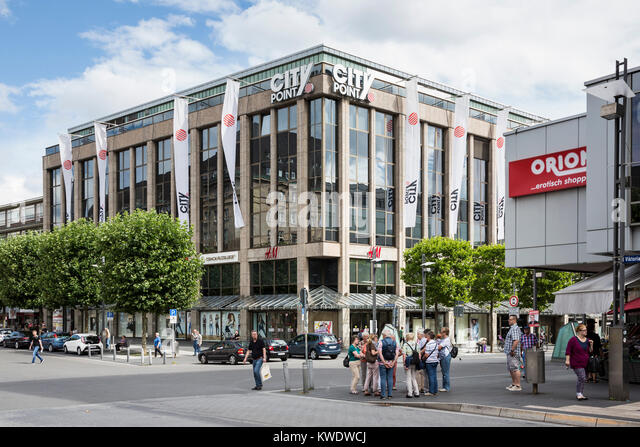 Town centre with the City Point shopping centre, Bochum, Ruhr Area, North Rhine-Westphalia, Germany - Stock Image