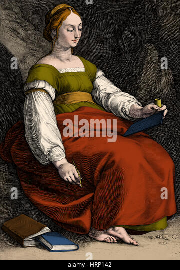 Clio, Greek Muse of History - Stock Image