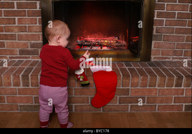 Half stockings stock photos half stockings stock images for Stocking clips for fireplace