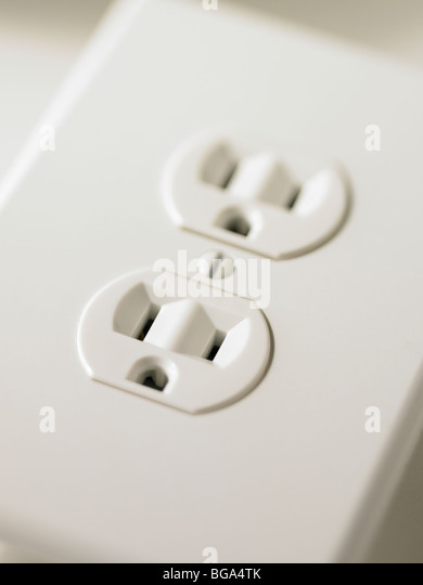 US Electrical socket outlet - Stock Image