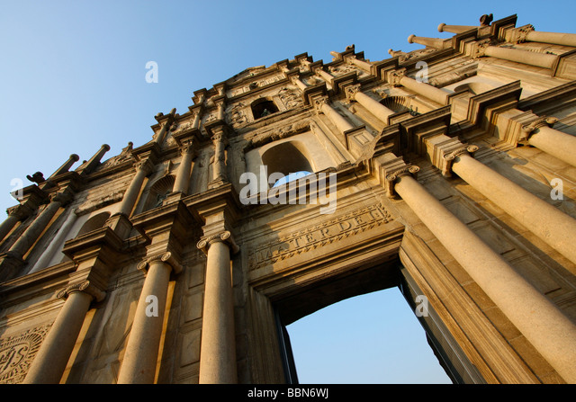 The Ruins of St. Paul's, macau - Stock Image