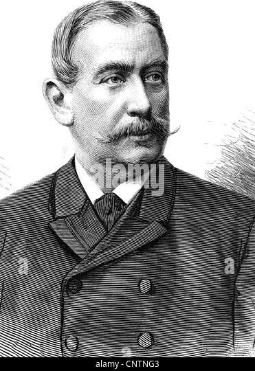 Marschall von Bieberstein, Adolf Freiherr (Baron), 12.10.1842 - 24.9.1912, German diplomat, portrait, wood engraving, - Stock Image