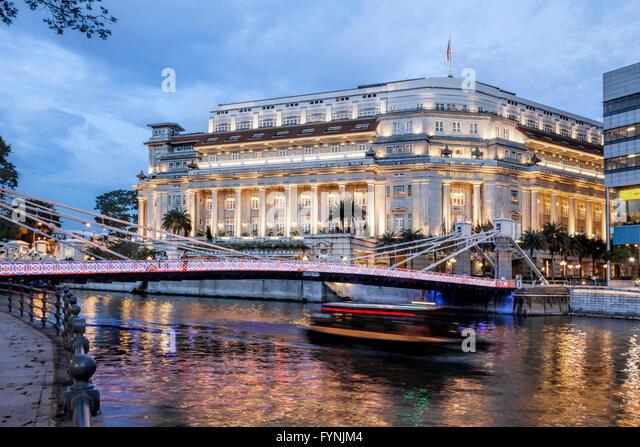 The Fullerton Hotel , Singapore, Singapur Asia - Stock Image