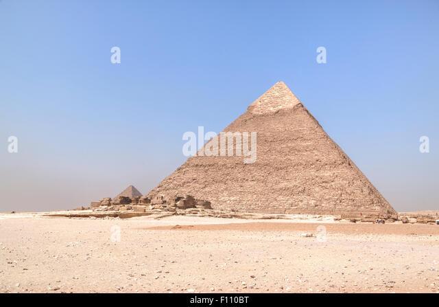 Pyramid of Khafre, Giza, Cairo, Egypt, Africa - Stock Image