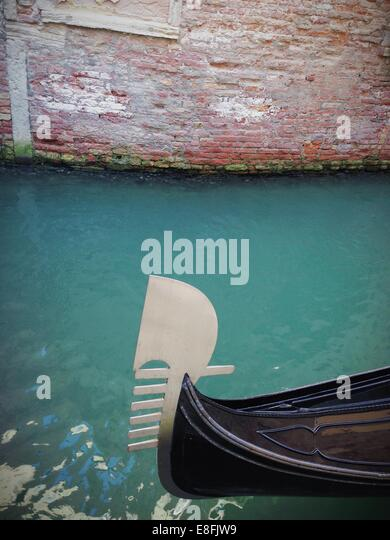 Italy, Venice, Typical ornament of boats - Stock Image