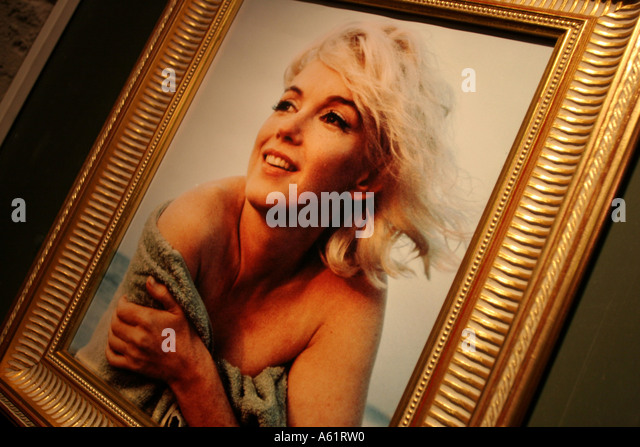 Marilyn Monroe portrait Museo Nazionale del Cinema Turin Piedmont Italy - Stock Image