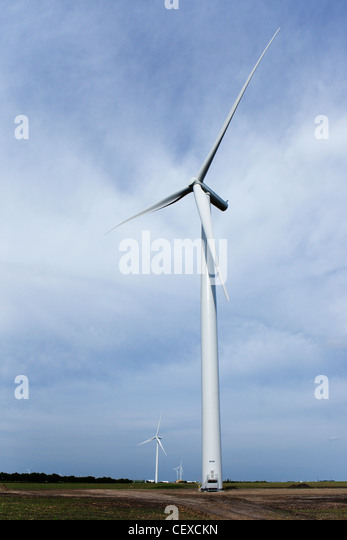 a wind turbine; manitoba, canada - Stock Image