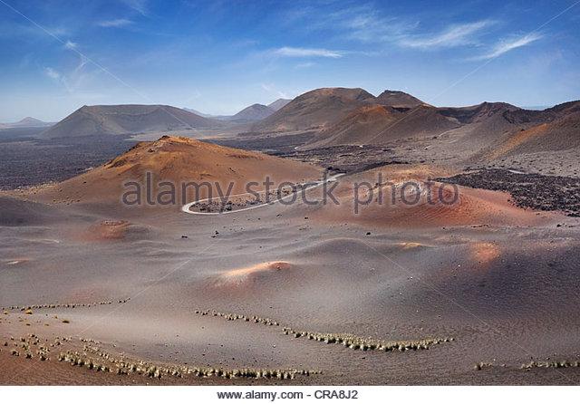Timanfaya National Park, Lanzarote, Canary Islands, Spain - Stock Image