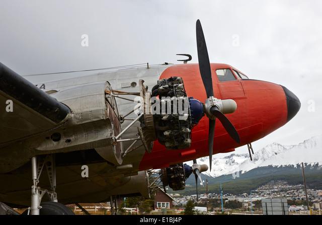 argentine navy dc-3 cabo de hornos Ushuaia Argentina - Stock Image