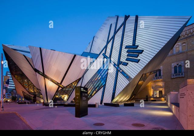 Royal Ontario Museum, Crystal, Toronto - Stock Image