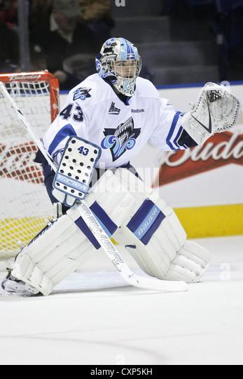 QMJHL (LHJMQ) hockey profile photo on Rimouski Oceanic Carl Hozjan - Stock Image