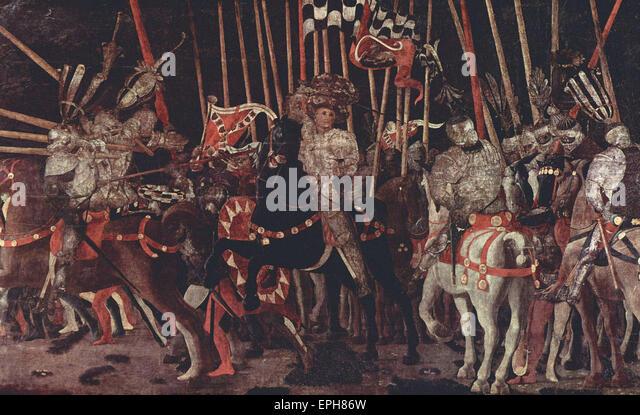 Paolo Uccello  Battle of San Romano 3 - Stock Image