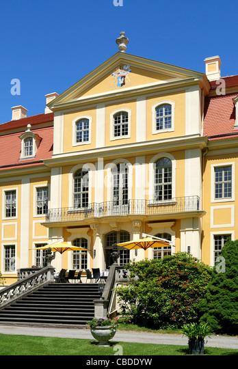 Baroque castle Rammenau. - Stock-Bilder