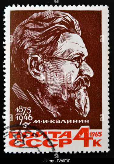 RUSSIA - CIRCA 1965: stamp printed in Russia shows Mikhail Kalinin, USSR President, circa 1965 - Stock Image