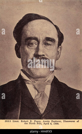 Robert Edwin Peary (1856-1920) - American Polar Explorer who claimed to have reached the geographic North Pole on - Stock Image