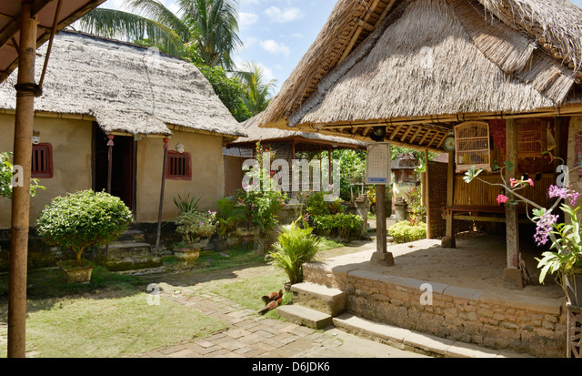 Simple farmer home in Bali, Indonesia, Southeast Asia, Asia - Stock Image
