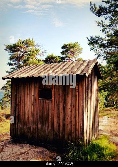August Strindberg's writing hut near Stockholm, Sweden. - Stock Image