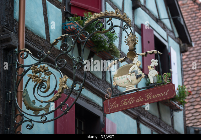 French country inn stock photos french country inn stock - Restaurant riquewihr table du gourmet ...