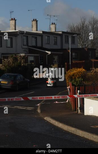 Armagh, Northern Ireland. 15th March 2013. Scene of a suspected bomb at a house in Alexandra Gardens. Armagh  Northern - Stock Image
