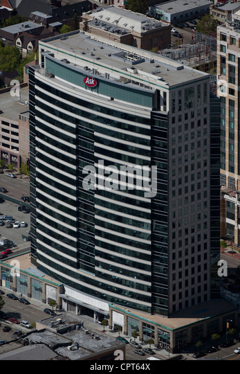 aerial photograph Ask.com headquarters Oakland, California - Stock Image