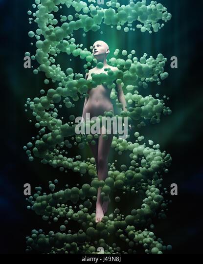 DNA and personal genetics concept 3D illustration - Stock-Bilder